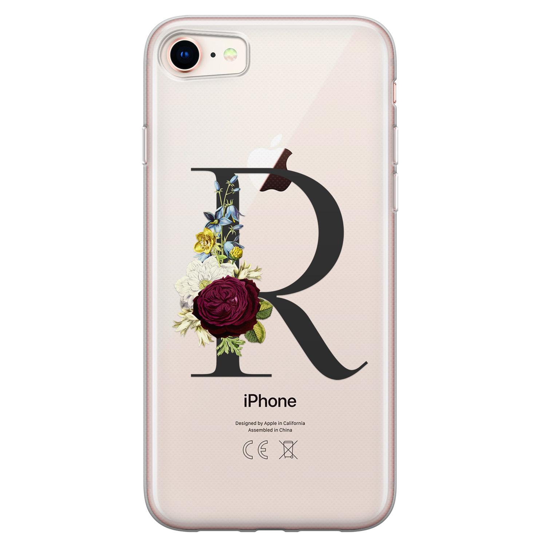 iPhone 8/7 siliconen hoesje ontwerpen - Monogram