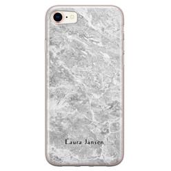 Leuke Telefoonhoesjes iPhone 8/7 siliconen hoesje ontwerpen - Marmer grijs