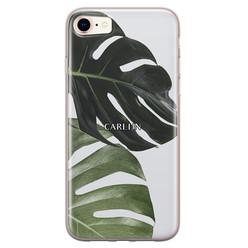 Leuke Telefoonhoesjes iPhone 8/7 siliconen hoesje ontwerpen - Monstera