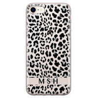 Leuke Telefoonhoesjes iPhone 8/7 siliconen hoesje ontwerpen - Luipaard grijs