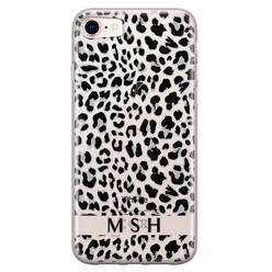 iPhone 8/7 siliconen hoesje ontwerpen - Luipaard grijs