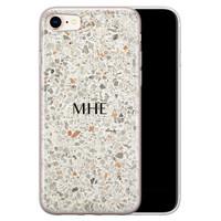 iPhone 8/7 siliconen hoesje ontwerpen - Terrazzo bruin