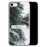 Leuke Telefoonhoesjes iPhone 8/7 siliconen hoesje ontwerpen - Palmbladeren