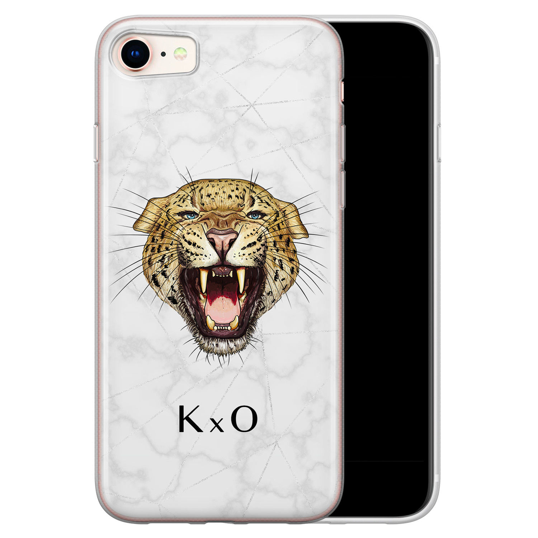 Leuke Telefoonhoesjes iPhone 8/7 siliconen hoesje ontwerpen - Luipaard hoofd