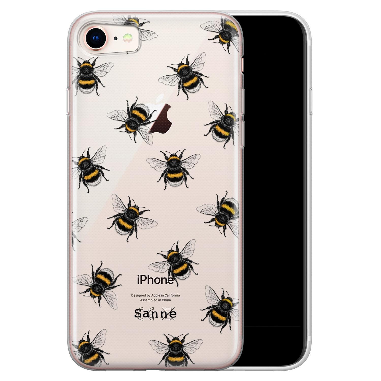 iPhone 8/7 siliconen hoesje ontwerpen - Happy bees