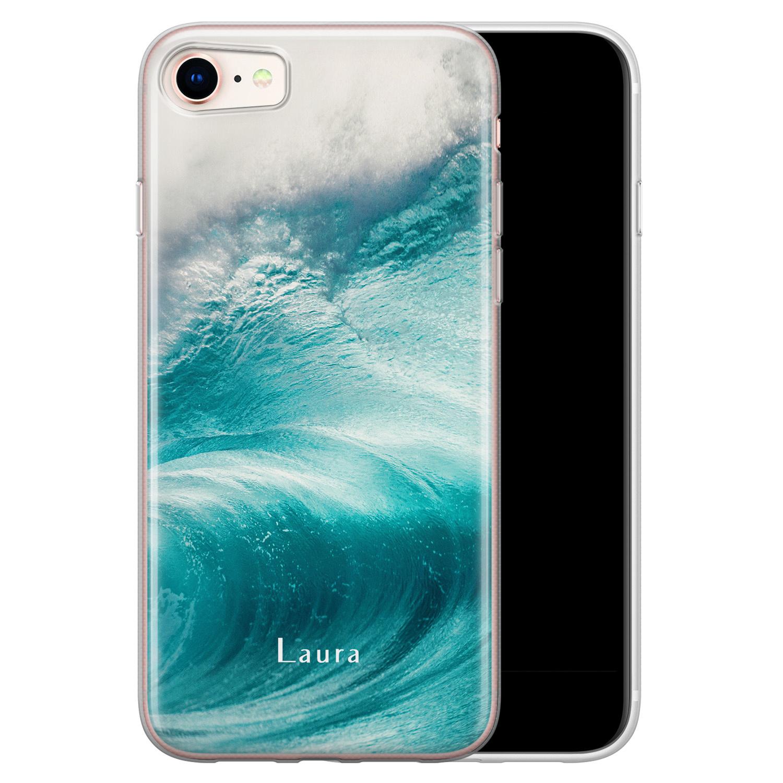 Leuke Telefoonhoesjes iPhone 8/7 siliconen hoesje ontwerpen - Blue wave