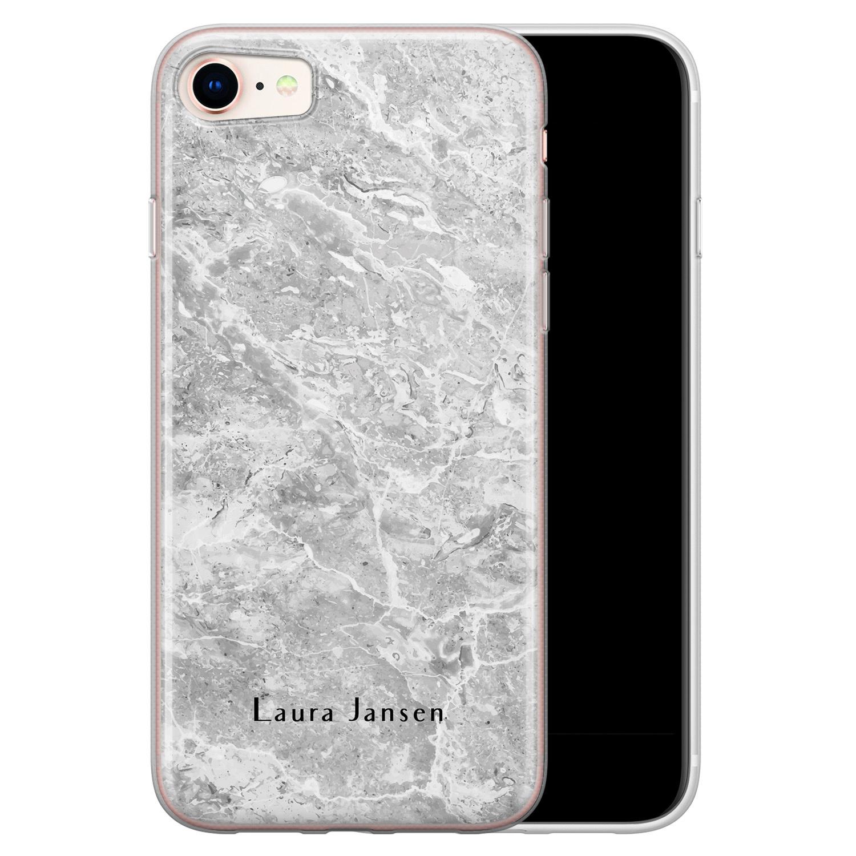 iPhone 8/7 siliconen hoesje ontwerpen - Marmer grijs