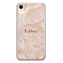 Leuke Telefoonhoesjes iPhone XR siliconen hoesje ontwerpen - Marble sunkissed
