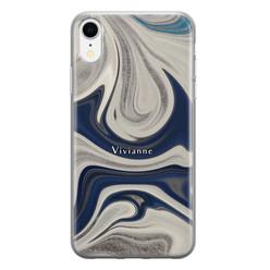 Leuke Telefoonhoesjes iPhone XR siliconen hoesje ontwerpen - Marmer sand