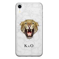 iPhone XR siliconen hoesje ontwerpen - Luipaard hoofd