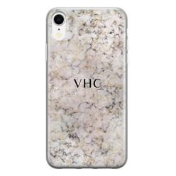 iPhone XR siliconen hoesje ontwerpen - Marmer veins