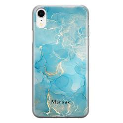 Leuke Telefoonhoesjes iPhone XR siliconen hoesje ontwerpen - Marmer liquid