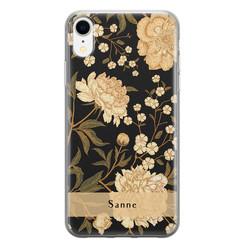 iPhone XR siliconen hoesje ontwerpen - Golden flowers