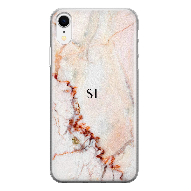 Leuke Telefoonhoesjes iPhone XR siliconen hoesje ontwerpen - Marmer luxe
