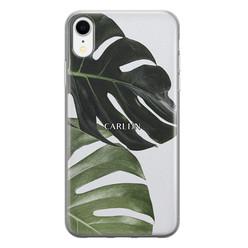 Leuke Telefoonhoesjes iPhone XR siliconen hoesje ontwerpen - Monstera