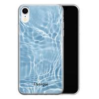 iPhone XR siliconen hoesje ontwerpen - Water blue