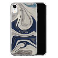 iPhone XR siliconen hoesje ontwerpen - Marmer sand