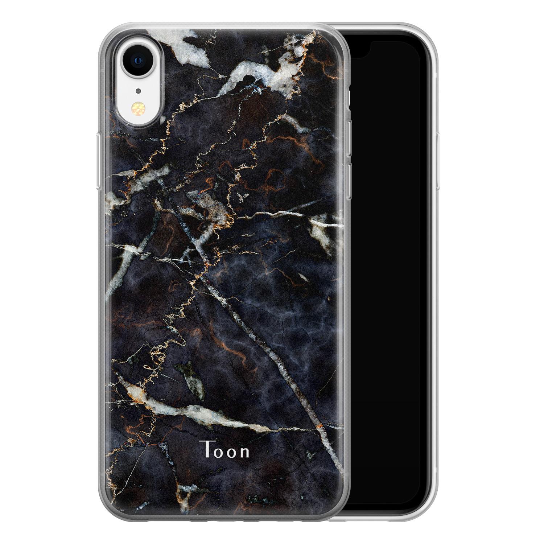 Leuke Telefoonhoesjes iPhone XR siliconen hoesje ontwerpen - Marmer mix