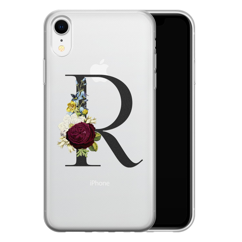 iPhone XR siliconen hoesje ontwerpen - Monogram