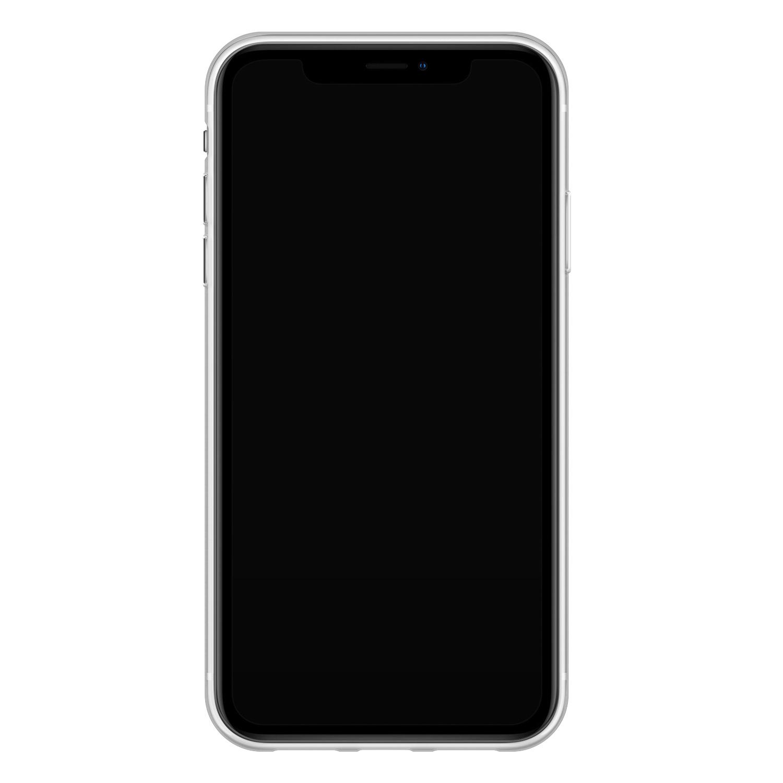 iPhone XR siliconen hoesje ontwerpen - Marmer blauw