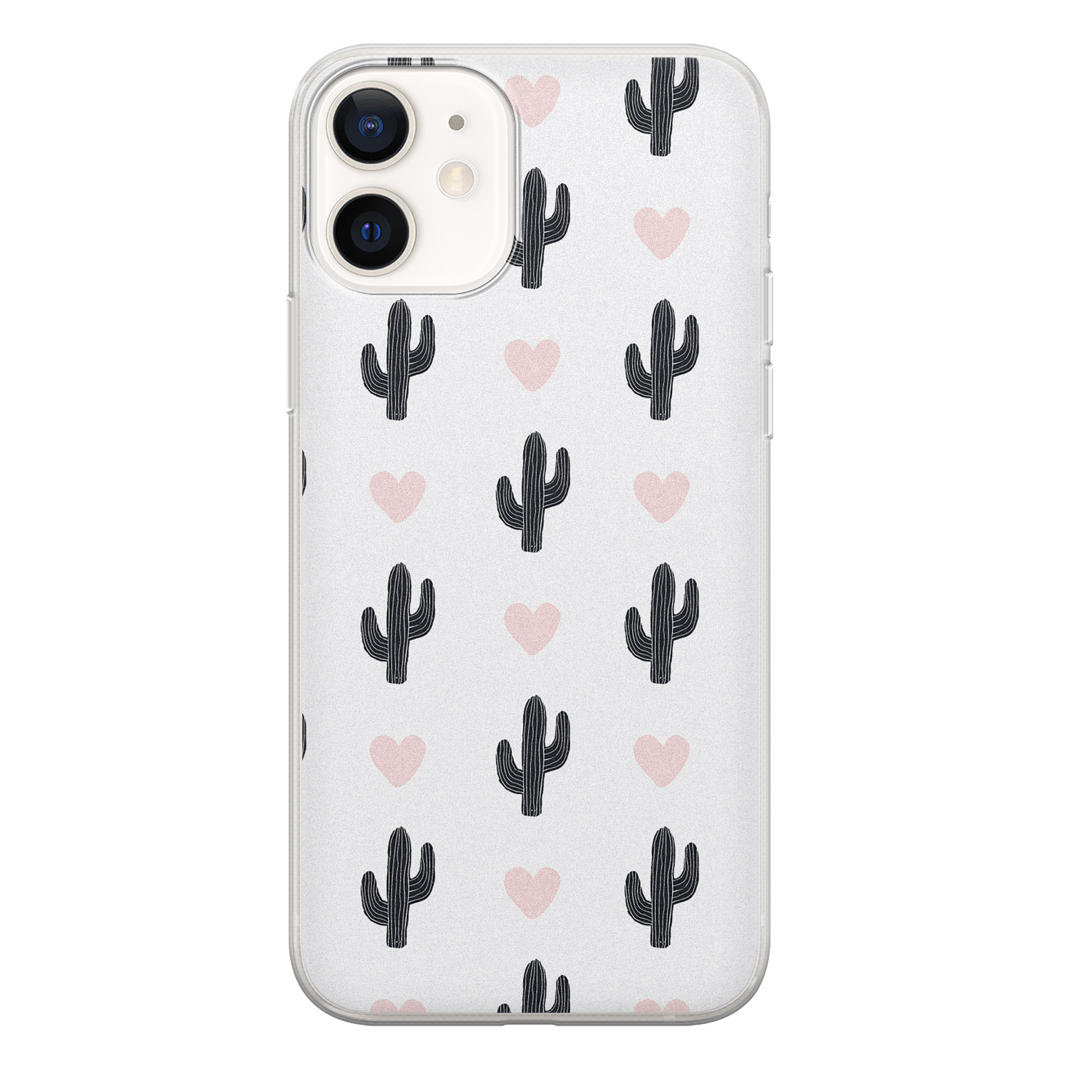 iPhone 12 siliconen hoesje - Cactus love