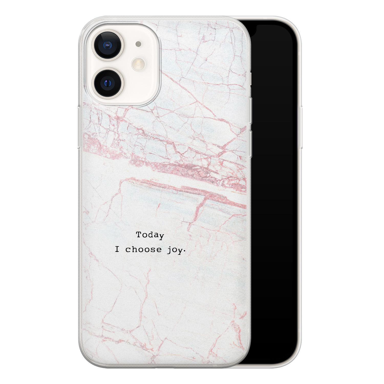 iPhone 12 siliconen hoesje - Today I choose joy