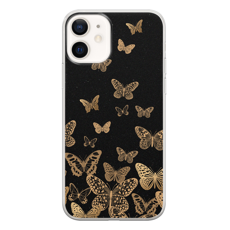 iPhone 12 siliconen hoesje - Vlinders