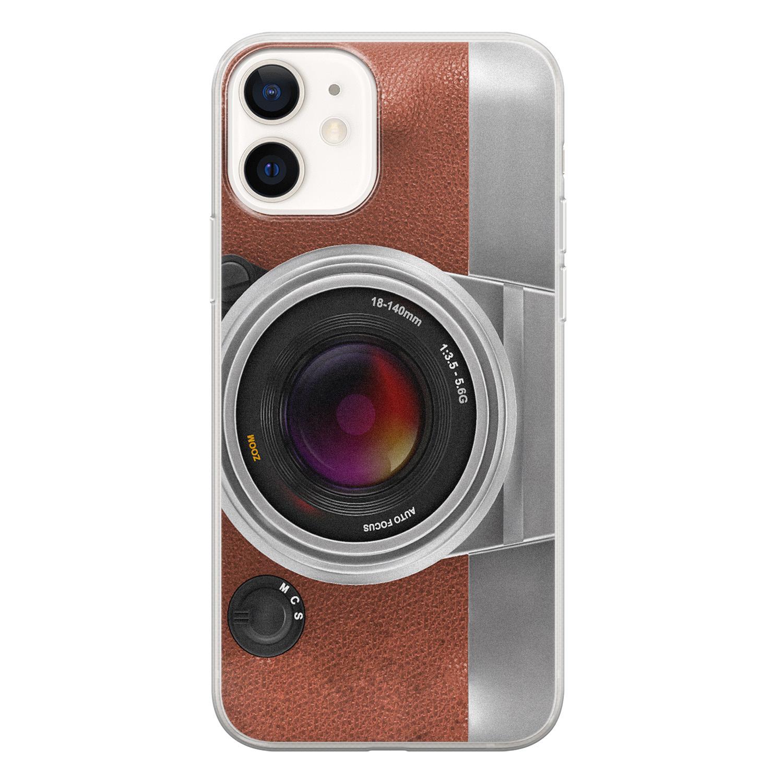 iPhone 12 siliconen hoesje - Vintage camera