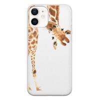 iPhone 12 siliconen hoesje - Giraffe peekaboo