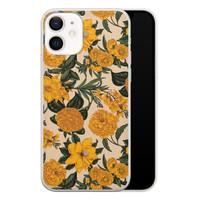 iPhone 12 siliconen hoesje - Retro flowers