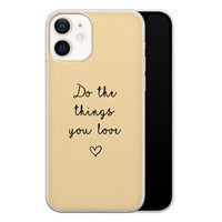 iPhone 12 siliconen hoesje - Do the things you love