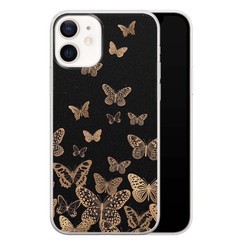 Leuke Telefoonhoesjes iPhone 12 siliconen hoesje - Vlinders