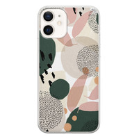 iPhone 12 siliconen hoesje - Abstract print