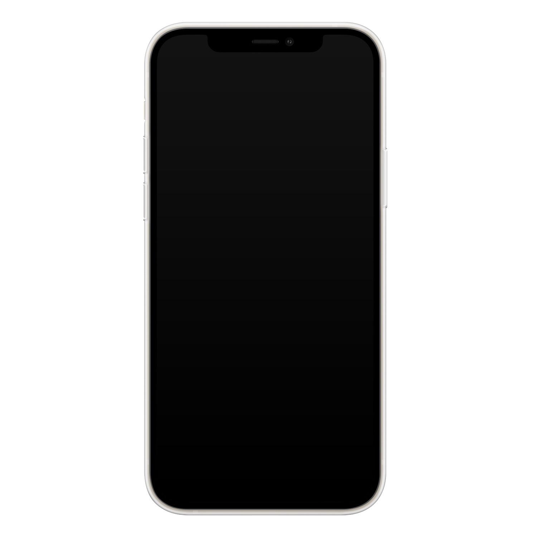 iPhone 12 siliconen hoesje - Marmer navy blauw
