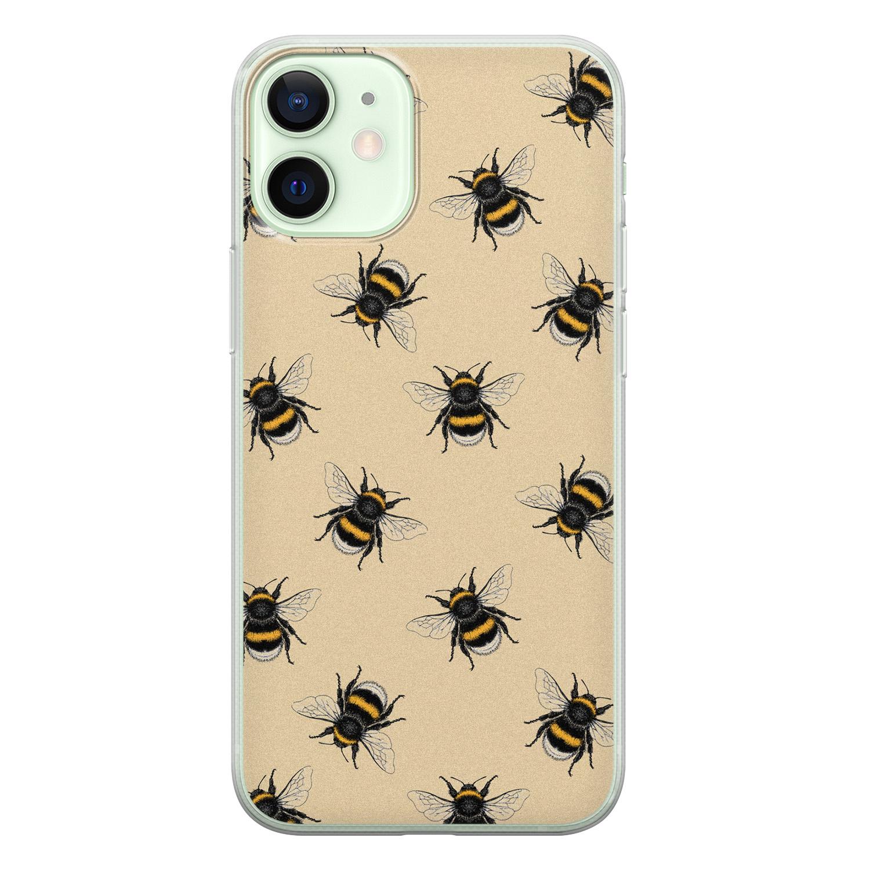 iPhone 12 mini siliconen hoesje - Bee happy