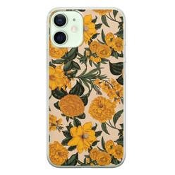 iPhone 12 mini siliconen hoesje - Retro flowers