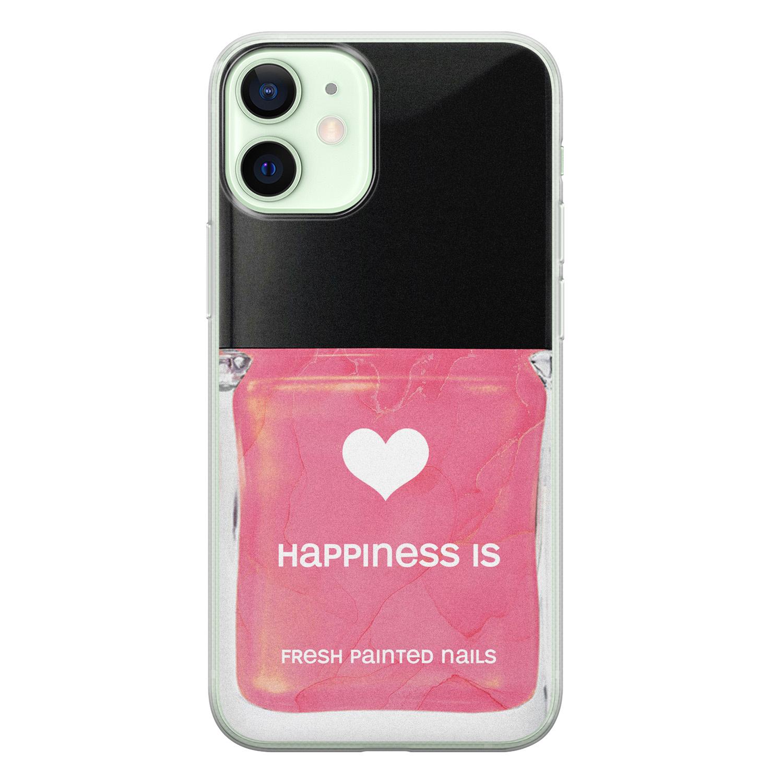 iPhone 12 mini siliconen hoesje - Nagellak