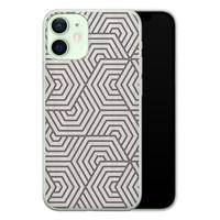 iPhone 12 mini siliconen hoesje - Geometrisch