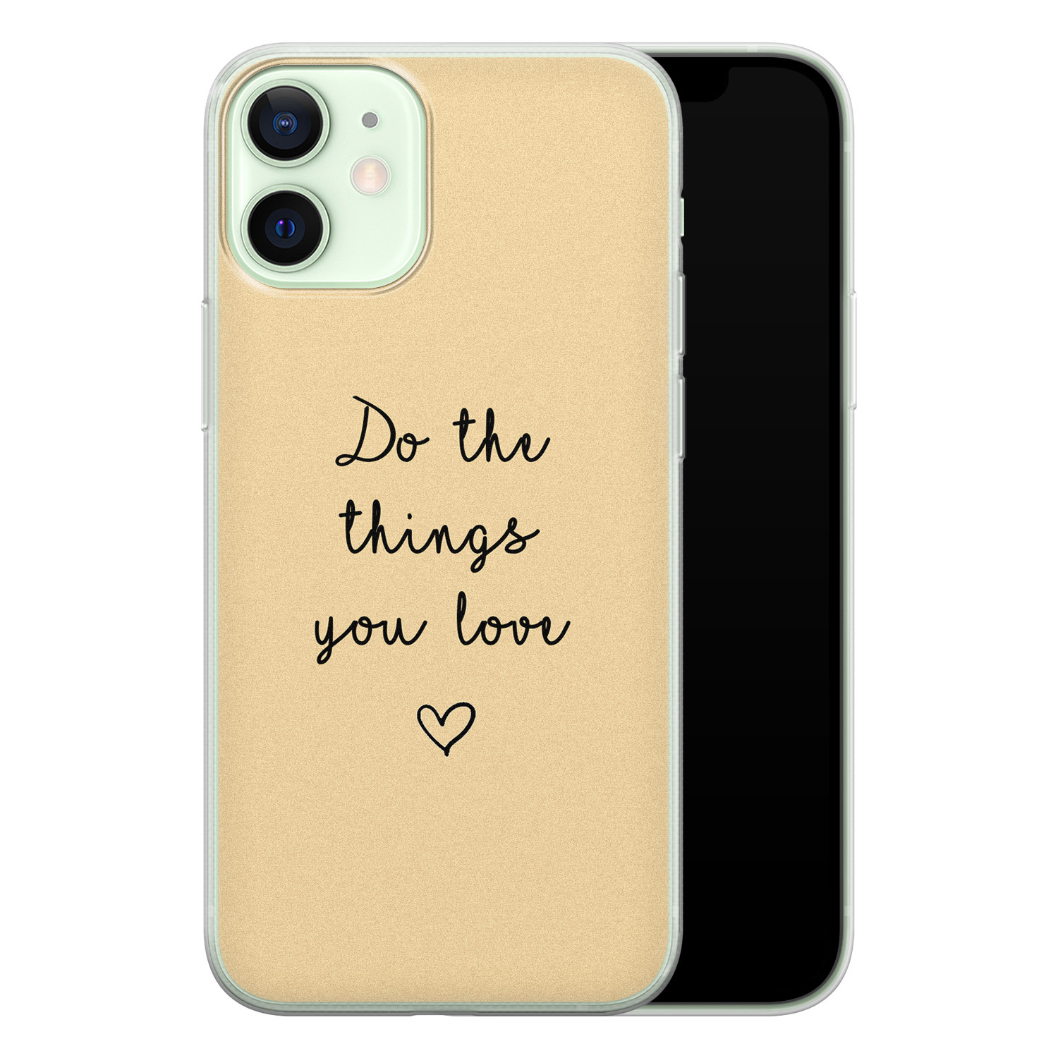 iPhone 12 mini siliconen hoesje - Do the things you love