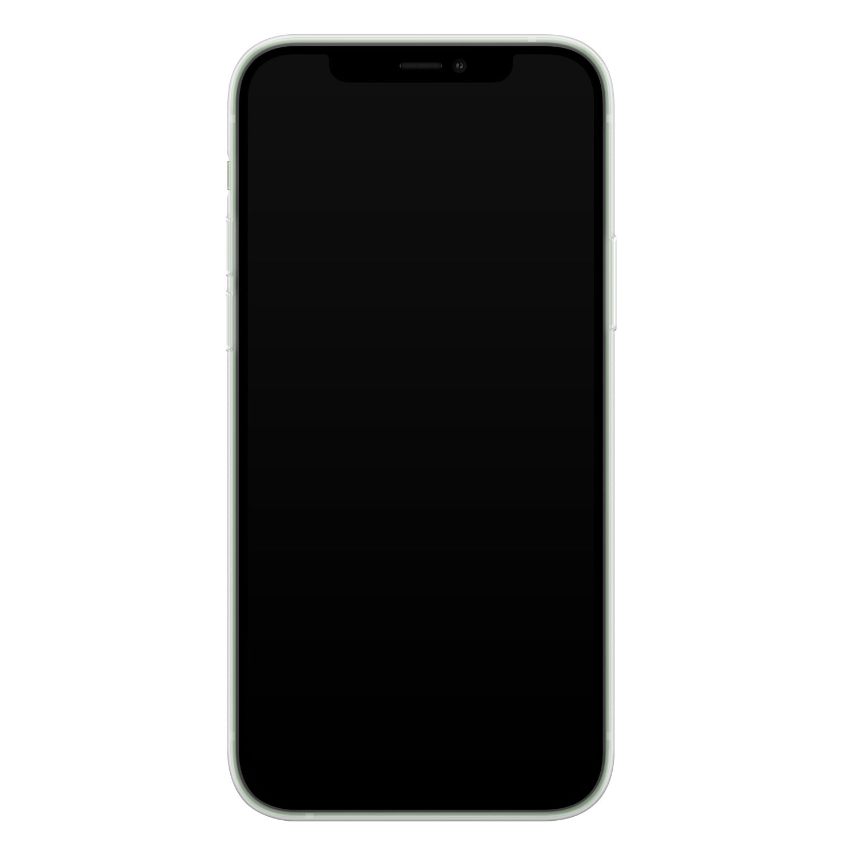 iPhone 12 mini siliconen hoesje - Marmer zwart goud