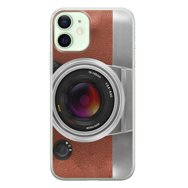 Leuke Telefoonhoesjes iPhone 12 mini siliconen hoesje - Vintage camera