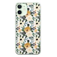 Leuke Telefoonhoesjes iPhone 12 mini siliconen hoesje - Lovely flower