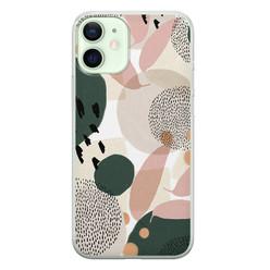 Leuke Telefoonhoesjes iPhone 12 mini siliconen hoesje - Abstract print