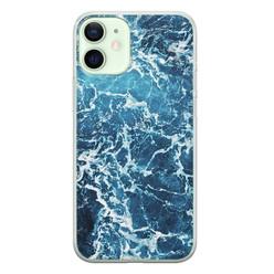 iPhone 12 mini siliconen hoesje - Ocean blue
