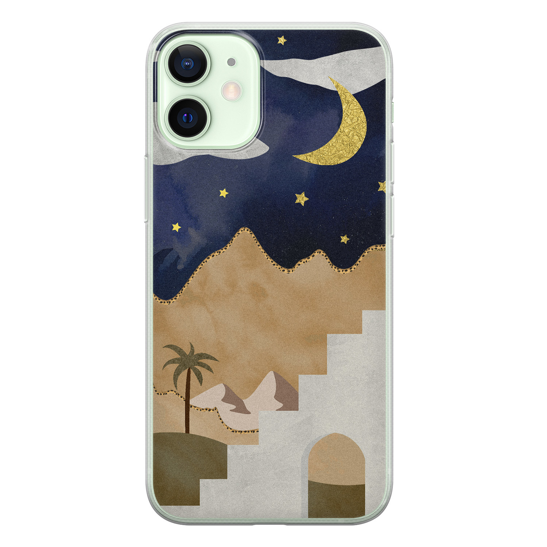 iPhone 12 mini siliconen hoesje - Desert night
