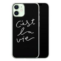 iPhone 12 mini siliconen hoesje - C'est la vie