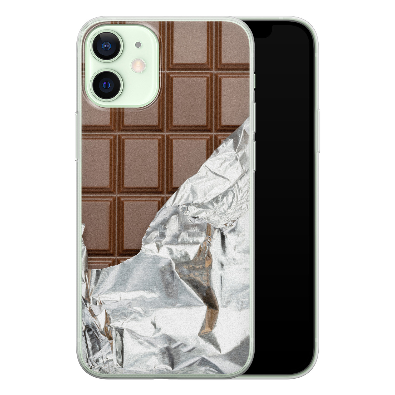 iPhone 12 mini siliconen hoesje - Chocoladereep