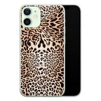 iPhone 12 mini siliconen hoesje - Wild animal