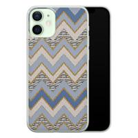 iPhone 12 mini siliconen hoesje - Retro zigzag