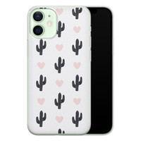 iPhone 12 mini siliconen hoesje - Cactus love